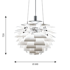Artichoke xl poul henningsen suspension pendant light  louis poulsen 5741092453  design signed 49086 thumb