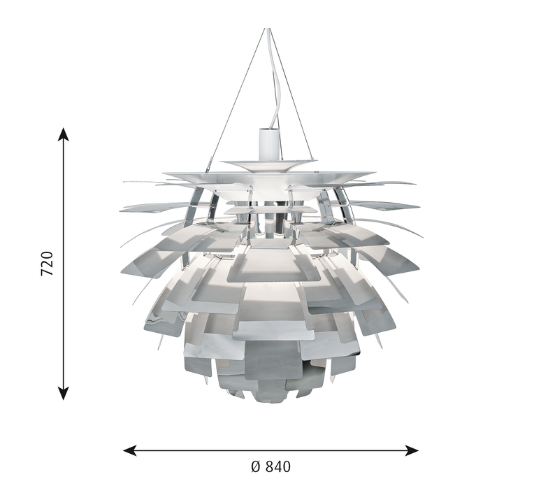 Artichoke xl poul henningsen suspension pendant light  louis poulsen 5741097979  design signed 49092 product