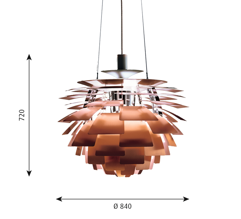 Artichoke xl poul henningsen suspension pendant light  louis poulsen 5741092466  design signed 49090 product