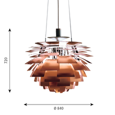 Artichoke xl poul henningsen suspension pendant light  louis poulsen 5741092466  design signed 49090 thumb