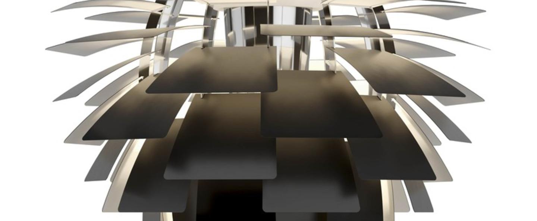 Suspension artichoke xl noir mat led 3000k 2606lm o84cm h72cm louis poulsen normal