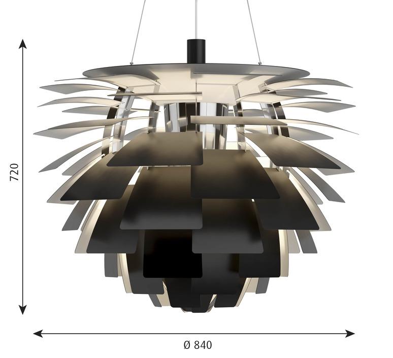 Artichoke xl poul henningsen suspension pendant light  louis poulsen 5741112553  design signed nedgis 82213 product