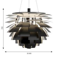 Artichoke xl poul henningsen suspension pendant light  louis poulsen 5741112553  design signed nedgis 82213 thumb