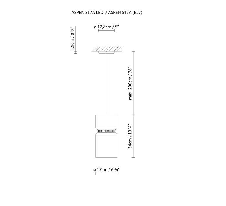 Aspen s17a werner aisslinger b lux aspen s17a e27 snow turquoise luminaire lighting design signed 18147 product