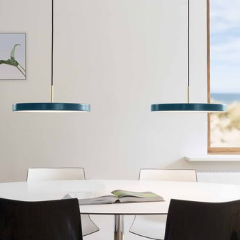 Suspension asteria bleu petrole led o43cm h14 3cm vita copenhagen normal