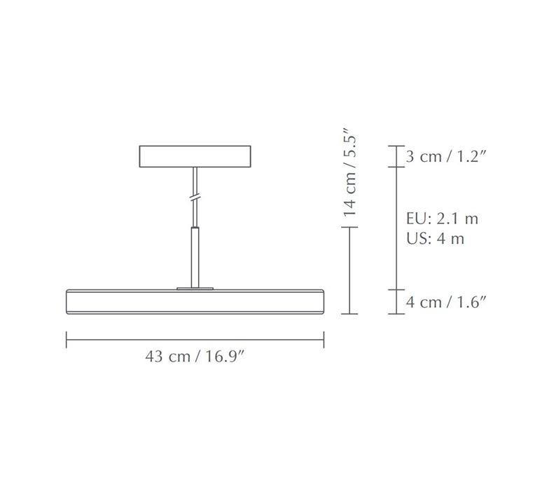 Asteria medium anders klem suspension pendant light  umage 2421  design signed nedgis 115630 product