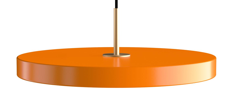 Suspension asteria medium orange et laiton led 3000k 1200lm o43cm h14cm umage normal