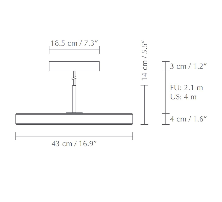 Asteria medium soren ravn christensen suspension pendant light  umage 2423  design signed nedgis 118795 product