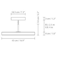Asteria medium soren ravn christensen suspension pendant light  umage 2423  design signed nedgis 118795 thumb