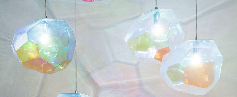 Suspension asteroid petrol transparent multicolor o30cm innermost normal