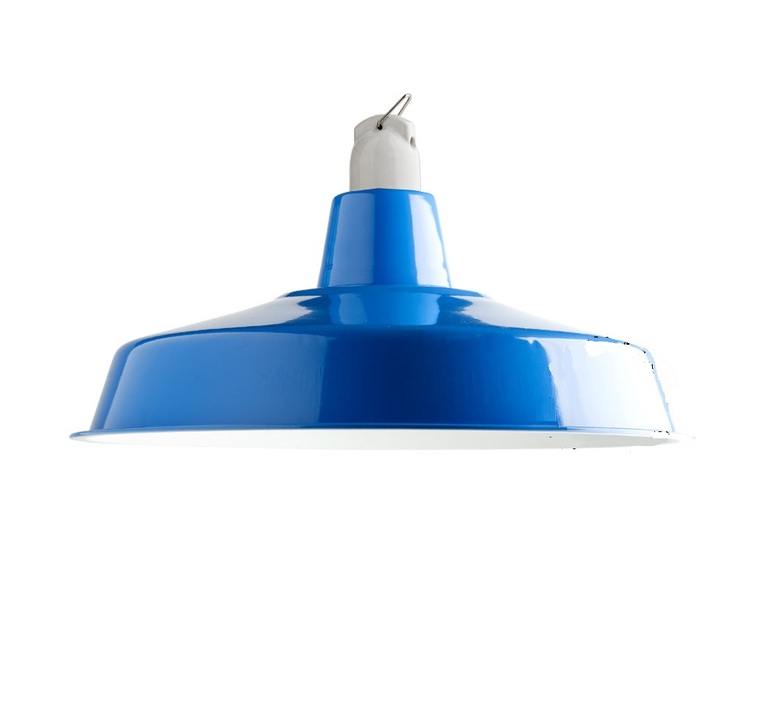 Suspension atelier emaillee bleu o40cm h16cm zangra 54944 product