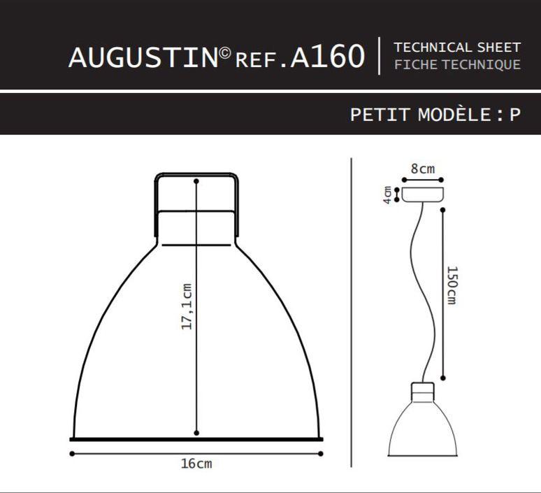 Augustin 160 jean louis domecq suspension pendant light  jielde a160 o 9011  design signed 36771 product