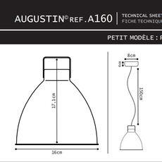 Augustin 160 jean louis domecq suspension pendant light  jielde a160 o 9011  design signed 36771 thumb