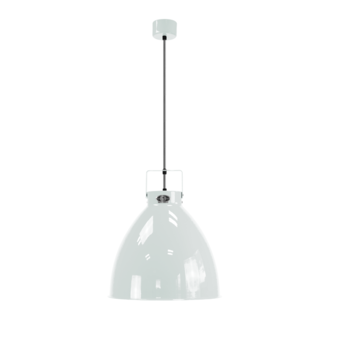 Suspension augustin 240 blanc cable argent interieur o24cm h26cm jielde normal