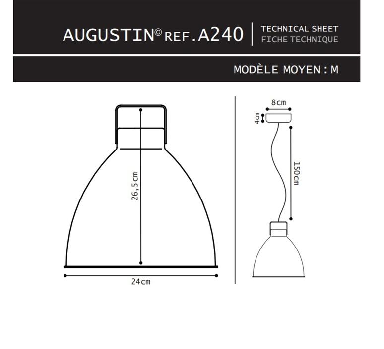 Augustin 160 jean louis domecq suspension pendant light  jielde a160 o 9011  design signed 39709 product