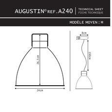 Augustin 160 jean louis domecq suspension pendant light  jielde a160 o 9011  design signed 39709 thumb