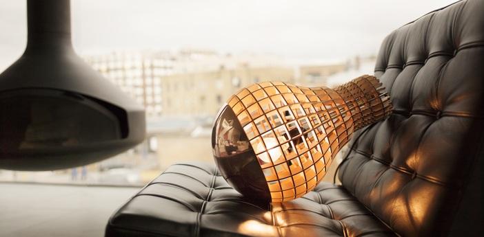 Suspension aura bois cuivre h45cm massow design normal
