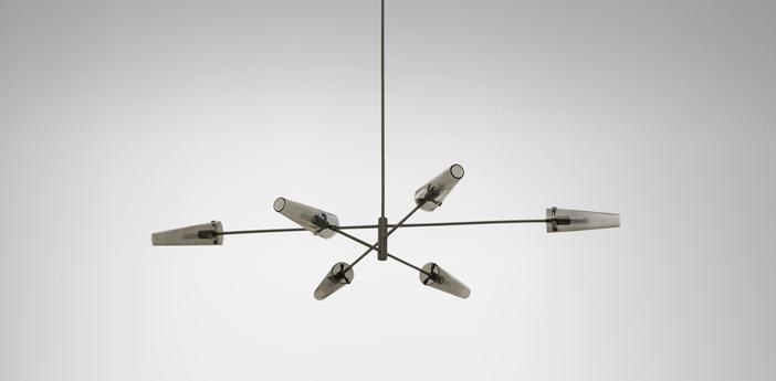 Suspension axis suspension large bronze l172cm h19cm cto lighting normal
