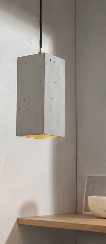 Suspension b2 gris clair interieur cuivre l10cm h23cm gantlights normal