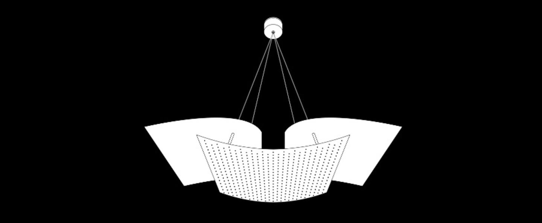Suspension b212 blanc h50cm lignes de demarcation normal