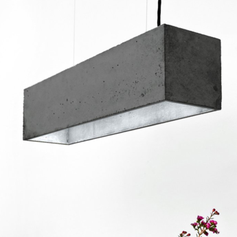 Suspension b4 dark gris argent l56cm h14cm gantlights normal