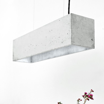 Suspension b4 gris argent l56cm h14cm gantlights normal