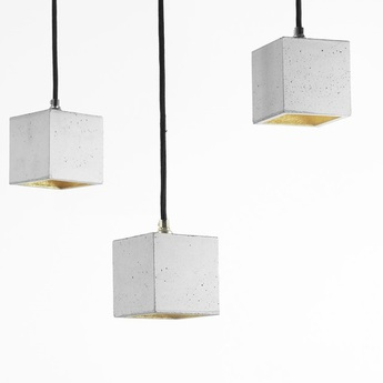 Suspension b6 gris clair laiton l10cm h10cm gantlights normal