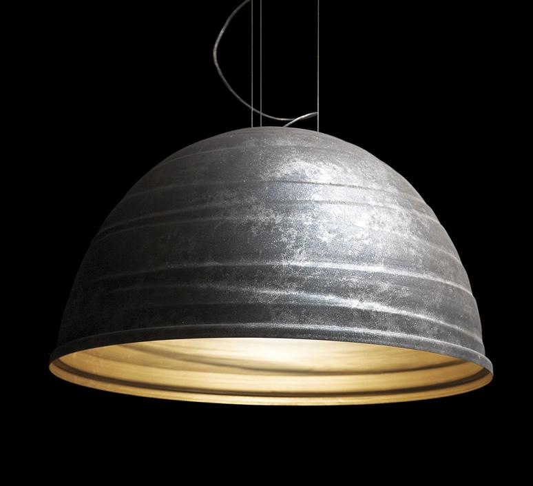 Suspension babele gris fonc 45cm martinelli luce for Suspension luminaire gris