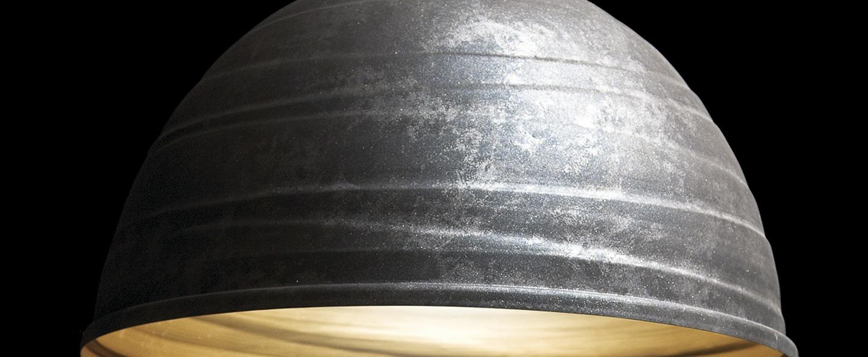 Suspension babele gris fonce o65cm martinelli luce normal