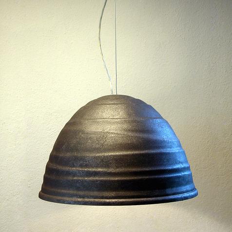 suspension babele gris fonc 65cm martinelli luce luminaires nedgis. Black Bedroom Furniture Sets. Home Design Ideas