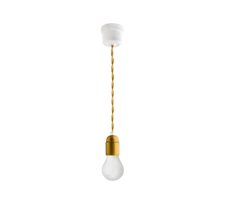 Bakelite et porcelaine cable 3m studio zangra suspension pendant light  zangra ceilinglamp 006 001 textilecable 004 002 300cm  design signed nedgis 63748 product