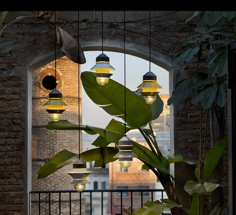 Outdoor Pendant Light Santorini Mustard H25 8cm