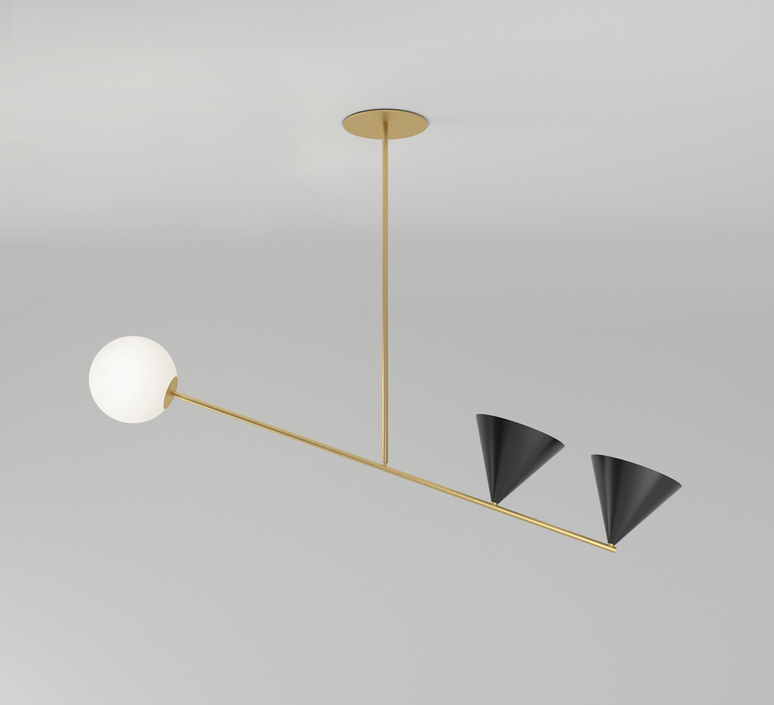 Balancing gwendolyn et guillane kerschbaumer suspension pendant light  atelier areti 368ol p02 br01   design signed nedgis 73090 product
