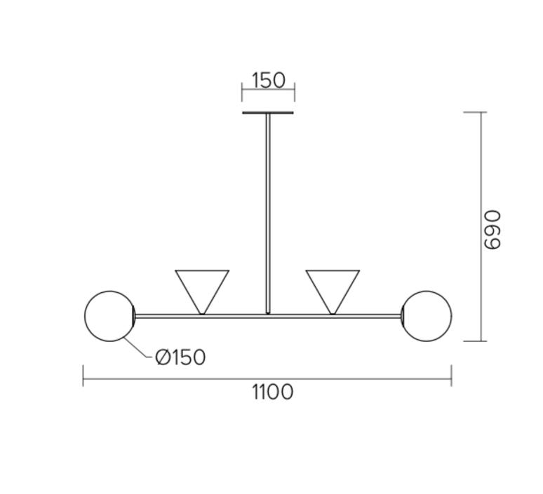 Balancing variations gwendolyn et guillane kerschbaumer suspension pendant light  atelier areti 368ol p04 br01   design signed nedgis 73368 product
