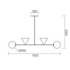Balancing variations gwendolyn et guillane kerschbaumer suspension pendant light  atelier areti 368ol p04 br01   design signed nedgis 73368 thumb