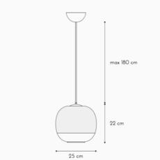 Bale enrico zanolla suspension pendant light  zanolla ltbas25w  design signed 54957 thumb