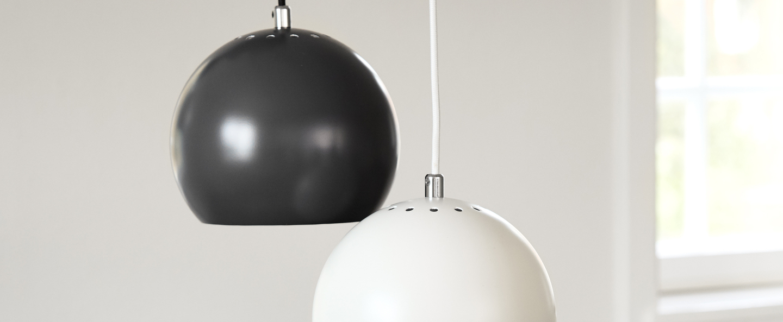 Suspension ball blanc mat o18cm h16cm frandsen normal