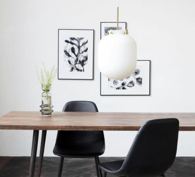suspension ball blanc 30cm h35cm house doctor luminaires nedgis. Black Bedroom Furniture Sets. Home Design Ideas