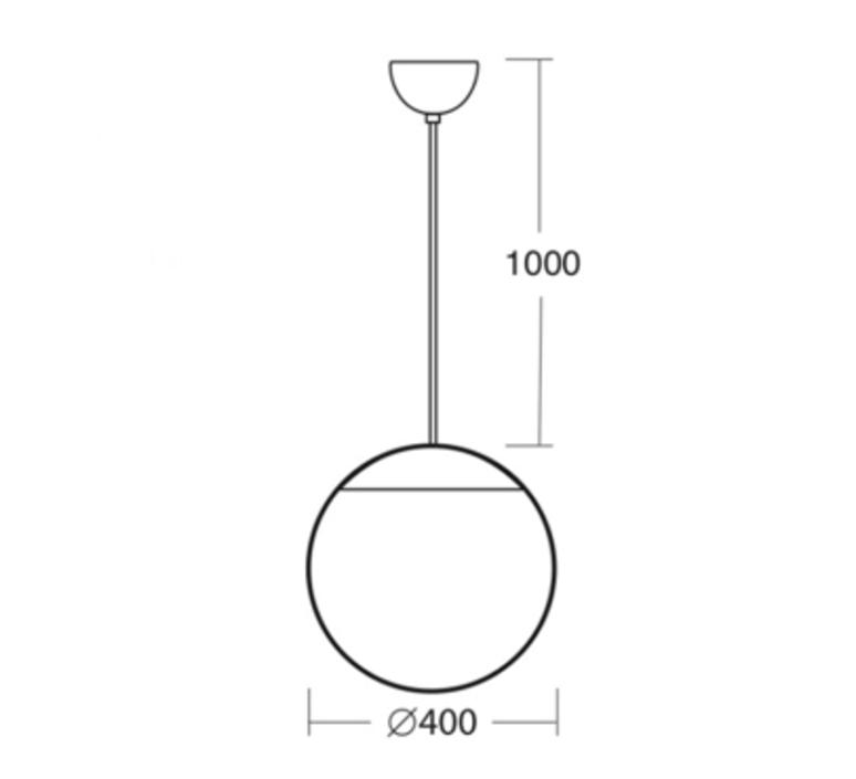 Ball studio zangra suspension pendant light  zangra light o 099 w 001  design signed nedgis 67794 product