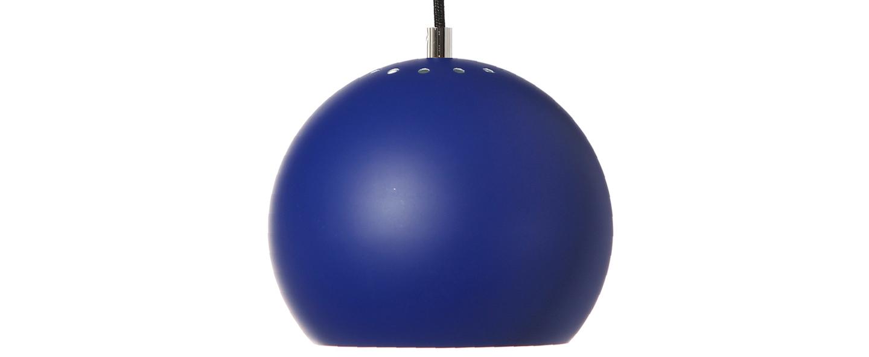 Suspension ball bleu cobalt mat o18cm h16cm frandsen normal