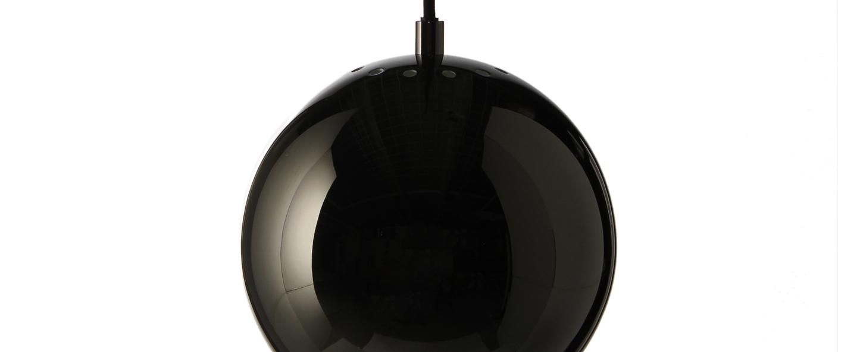 Suspension ball chrome noir o18cm h16cm frandsen normal