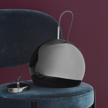 Suspension ball chrome noir o25cm h20cm frandsen normal
