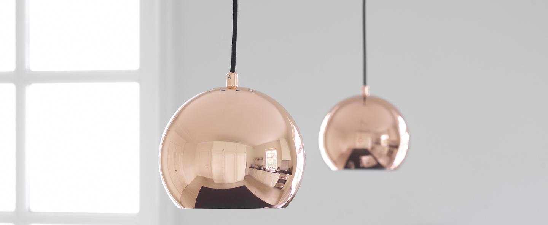Suspension ball cuivre o18cm h16cm frandsen normal