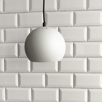 Suspension ball gris clair mat o18cm h16cm frandsen normal