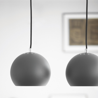 Suspension ball gris fonce mat o18cm h16cm frandsen normal