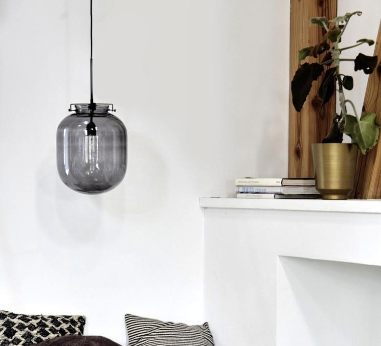 suspension ball gris h35cm 30cm house doctor luminaires nedgis. Black Bedroom Furniture Sets. Home Design Ideas