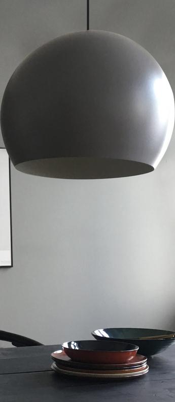 Suspension ball gris mat o40cm h33cm frandsen normal
