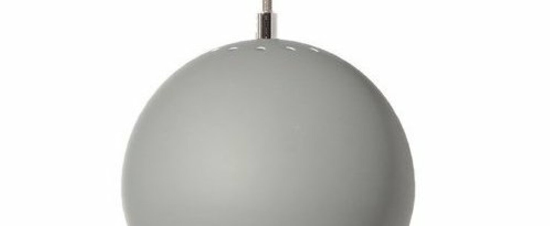 Suspension ball gris souris mat o18cm h16cm frandsen normal