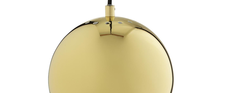 Suspension ball laiton brillant o18cm h16cm frandsen normal