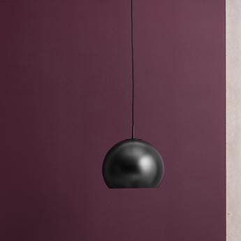 Suspension ball noir mat o25cm h20cm frandsen normal